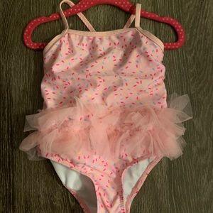 2T one piece ballerina swimming suit!